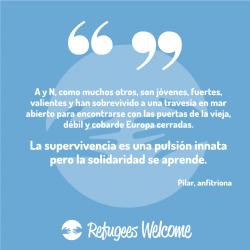 Testimonio de Pilar anfitriona de Refugees Welcome en Tenerife