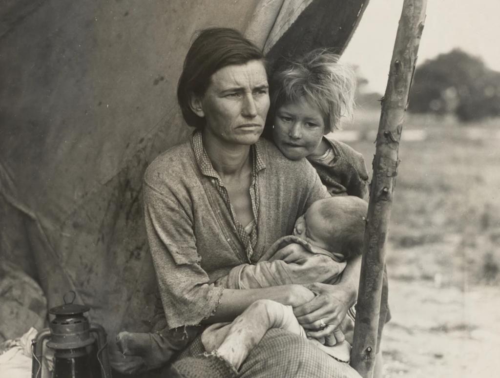Recolectores de guisantes. California, 1936.
